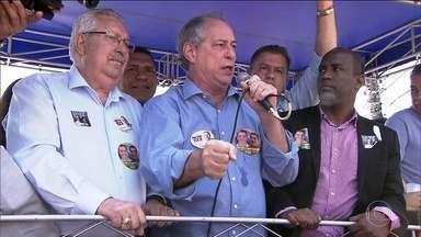 Candidato do PDT, Ciro Gomes, faz campanha na região do ABC paulista - Jornal Nacional mostra como foram as atividades de campanha de candidatos à presidência nesta segunda (10).