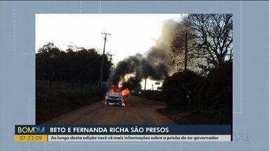 Presos do Complexo Penitenciário de Piraquara são resgatados - Os bandidos provocaram explosões e assustaram os moradores da região.