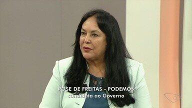 ESTV 1ª Edição entrevista Rose de Freitas - Candidata do Podemos ao governo do ES participou do segundo dia de série de entrevistas.