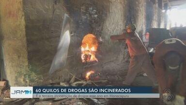 Polícia incinera 60 kg de droga em Manacapuru - Município fica a 70 km de Manaus