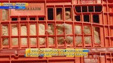 Em 2018, agroindústria tem queda nas exportações de carne suína e de frango - Em 2018, agroindústria tem queda nas exportações de carne suína e de frango
