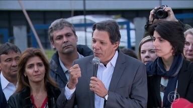 PT oficializa o nome de Fernando Haddad como candidato à presidência - O anúncio foi feito nesta terça (11).