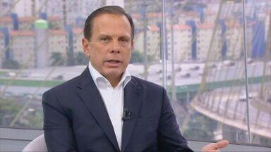 João Doria, candidato ao Governo de São Paulo, é entrevistado no SP1 - Telejornal conversará com os principais candidatos ao cargo de governador de São Paulo.