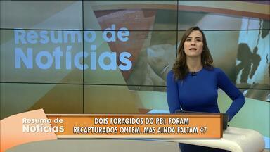 Confira o Resumo das Notícias do Bom Dia Paraíba nesta quinta-feira - Veja as principais notícias de hoje.