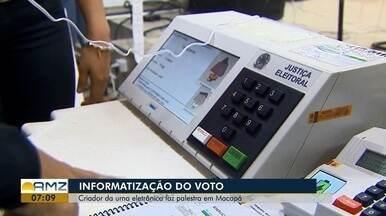 Criador da urna eletrônica fala de avanços da votação eleitoral na Amazônia - Região tem 1,5 mil pontos de difícil acesso.