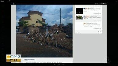 Tô na Rede: lixeira a céu aberto acumula terra e lixo na Zona Sul de Macapá - Semur informou que vai enviar equipe para remover entulho do local e reforçou contato para denúncias sobre despejo de lixo em via pública: (96) 99147-1050.