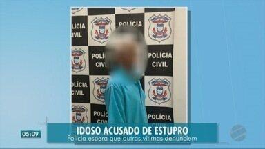 Polícia prende idoso, de setenta e um anos acusado de estupro - Polícia prende idoso, de setenta e um anos acusado de estupro