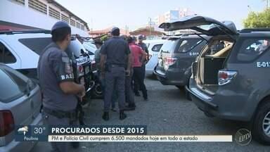 Operação das polícias Civil e Militar cumpre mandados de prisão em cidades da região - Os 3,5 mil mandados envolvem as seccionais das cidades de Campinas, Mogi Guaçu, Jundiaí e Bragança. Em todo o estado são cerca de 6,5 mil mandados.