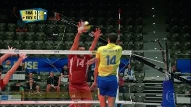 Brasil derrota Egito no Mundial de Vôlei - Brasil derrota Egito no Mundial de Vôlei