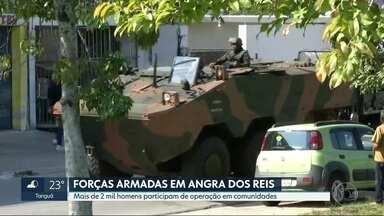 Comando da Intervenção faz operação em Angra dos Reis - Catorze pessoas foram presas. Mais de 2 mil militares participaram da ação, com apoio da polícia.
