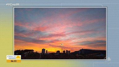 Confira a previsão do tempo desta sexta-feira (14); veja também as fotos do amanhecer - Saiba como fica o tempo no estado.