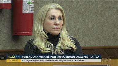 Vereadora de Foz do Iguaçu vira ré por improbidade administrativa - É o segundo processo de Nanci Rafagnin, do PDT, envolvendo uma viagem ao Rio de Janeiro.
