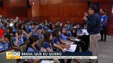 Crianças contam que Brasil elas querem para o futuro - Grupo estava fazendo uma visita à Assembleia Legislativa.