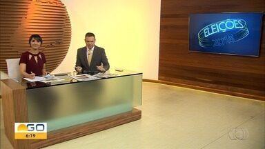 Confira as agendas políticas dos candidatos a governador de Goiás - Eleições acontecem no primeiro domingo de outubro.