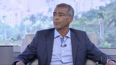 Romário (Podemos) é entrevistado no RJ1 - O candidato ao governo do estado do Rio de Janeiro foi entrevistado por Mariana Gross e Flávio Fachel.