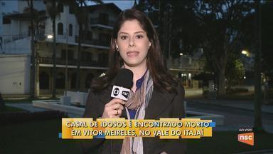 Casal de idosos é encontrado morto em Vitor Meireles - Casal de idosos é encontrado morto em Vitor Meireles