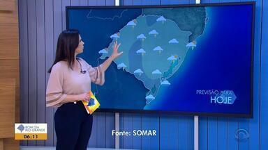 Tempo: segunda (17) começa com instabilidade e previsão de chuva para todas as regiões - Temperaturas máximas chegam aos 23ºC em cidades do RS.
