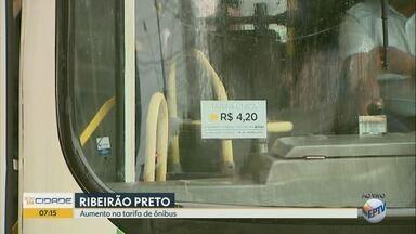 Tarifa de ônibus urbano passa a custar R$ 4,20 em Ribeirão Preto - Aumento de 6% foi autorizado pelo Tribunal de Justiça de São Paulo (TJ-SP).