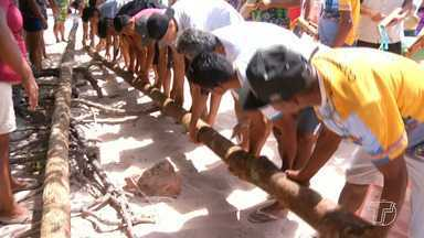 Procissão de busca dos mastros abre a Festa do Sairé em Alter do Chão - A festa tem início com a busca de toras de madeiras na floresta e que são erguidos por homens e mulheres mais tarde.