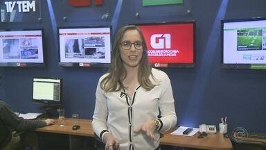 Confira os destaques do G1 com a repórter Caroline Andrade - Confira os destaques do G1 Sorocaba e Jundiaí desta segunda-feira (17) com a repórter Caroline Andrade.