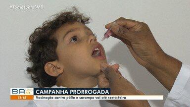 Vacinação contra pólio e sarampo é prorrogada para sexta-feira (21) - Saiba mais detalhes aqui no G1.