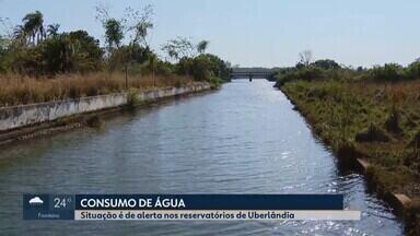 Devido à crise hídrica, comportas da estação Sucupira são fechadas em Uberlândia - O Departamento de Água e Esgoto (Dmae) emitiu um alerta informando que a vazão do Rio Uberabinha e Ribeirão Bom Jardim está caindo.