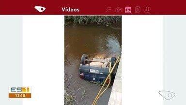 Corpo é encontrado em carro dentro do rio Araçatiba, em Viana, ES - Polícia Militar foi chamada e se deslocou até o local, onde confirmou a ocorrência. A perícia da Polícia Civil foi acionada e a ocorrência segue em andamento.
