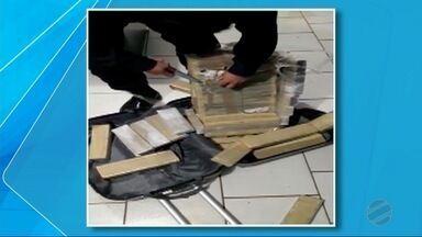 Mulher é presa com tabletes de maconha em duas malas em Dourados - Ela disse à Guarda Municipal que levaria o entorpecente para Goiânia.