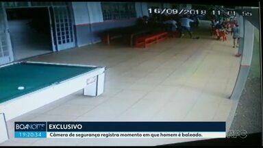 Vídeo: câmera registra homem sendo baleado - Crime foi após briga de futebol
