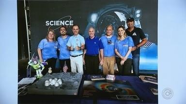 Estudantes de faculdade de Sorocaba são coordenados pela NASA - Estudantes de uma faculdade de Sorocaba (SP) pesquisam a possível exploração de Marte. O grupo é coordenado por uma equipe da NASA, a agência espacial norte-americana.