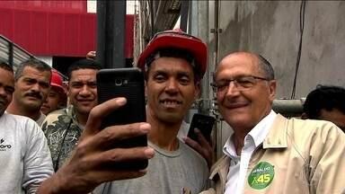 Candidato do PSDB, Geraldo Alckmin, faz campanha em São Paulo - Jornal Nacional mostra como foram as atividades de campanha de candidatos à presidência nesta terça-feira (18).