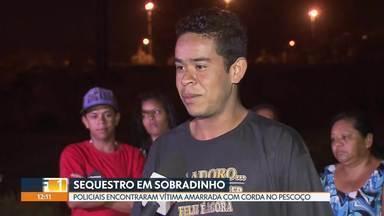 Rapaz é resgatado após sequestro em Sobradinho - João Pedro, de 22 anos, foi colocado no porta-malas sem tampo e viu o trajeto. Ele estava com o celular e ligou pedindo socorro. Policiais encontraram jovem com corda no pescoço, amarrado a uma árvore.