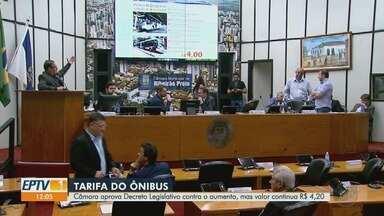 Câmara derruba reajuste, mas tarifa de ônibus segue a R$ 4,20 em Ribeirão Preto - Prefeitura informou que o Tribunal de Justiça de São Paulo analisará constitucionalidade do decreto aprovado pelos vereadores.