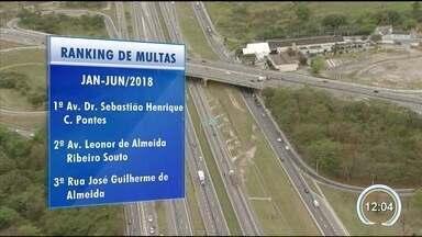 Zona sul é campeã de multas em São José dos Campos - Levantamento foi feito pela prefeitura.