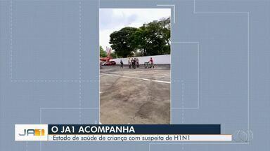 Bebê é internado com suspeita de gripe H1N1 em Goiânia - Ele está no Hospital Materno-Infantil, na capital.