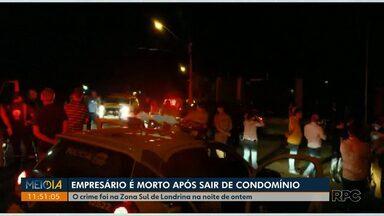 Polícia prende suspeitos de matar empresário na zona sul de Londrina - O crime foi na noite de quarta-feira (19) quando o empresário saia de carro para ir com a esposa à Igreja.
