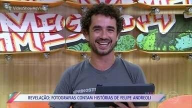 Felipe Andreoli relembra infância e adolescência revendo fotos - Mãe do apresentador mostra fotos e conta histórias divertidas sobre Felipe