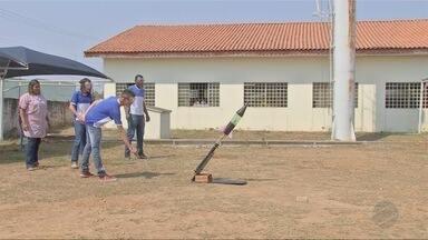 Estudantes de escola pública de Poconé desenvolvem foguete em projeto - Estudantes de escola pública de Poconé desenvolvem foguete em projeto