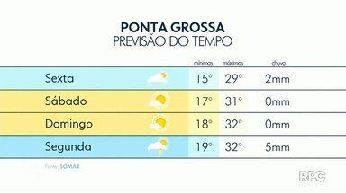 Calor volta para a região dos Campos Gerais no final de semana - Confira a previsão do tempo.