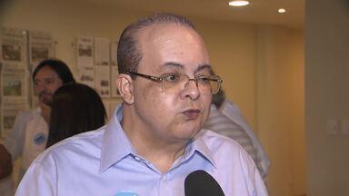 Ibaneis Rocha (MDB) participou de encontro com empresários da construção civil, no SIA - O candidato falou que, se for eleito, vai implementar agências de desenvolvimento e fortalecer o BRB.