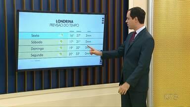 Chuva deve dar uma trégua a partir de sexta-feira (21) - Volta a fazer calor no final de semana, com máxima passando da casa dos 30 graus.