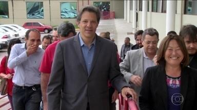Candidato do PT, Fernando Haddad, faz campanha no interior paulista - Jornal Nacional mostra como foram as atividades de campanha de candidatos à presidência nesta quinta-feira (20).