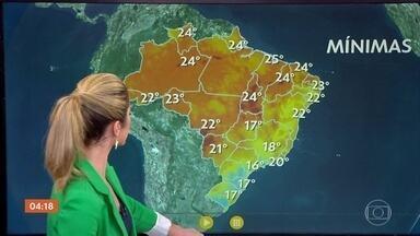 Meteorologia prevê chuva em boa parte do país nesta sexta (21) - No Sudeste, a previsão é de chuva forte com raios e ventania.