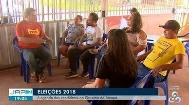 Agenda dos candidatos ao governo do Estado do Amapá - Candidato Gianfranco do PSTU conversou com moradores do bairro Pantanal, sobre como pretende fomentar o setor primário do Estado e que defende a nacionalização do agronegócio em busca da valorização da agricultura familiar