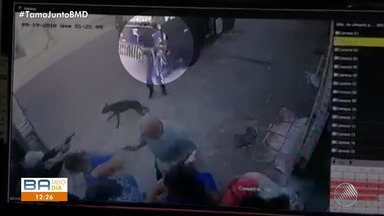 Uma pessoa morre e quatro ficam feridas durante tentativa de assalto em casa lotérica - Crime aconteceu no bairro de Águas Claras, em Salvador.