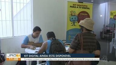 O kit digital ainda está disponível em Porto Velho - Conversor e antena podem ser adquiridos gratuitamente por beneficiários de programas sociais.