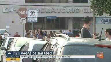 400 vagas para auxiliar de produção estão sendo oferecidas em Joinville - 400 vagas para auxiliar de produção estão sendo oferecidas em Joinville