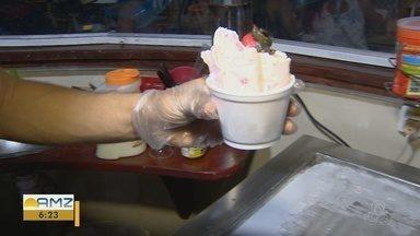 Dia nacional do sorvete é lembrado em Manaus - Centenas de pessoas se deliciaram com sabor gelado.