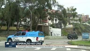 Grajaú-Jacarepaguá é fechada de novo, por duas horas e meia - Interdição aconteceu durante operação da PM no Complexo do Lins