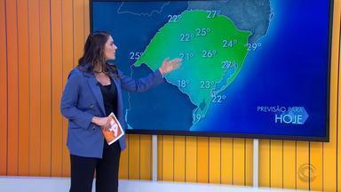 Tempo: chove em todas as regiões do RS nesta segunda (24) e temperaturas chegam aos 27ºC - Terça-feira (25) segue com tempo instável no estado.